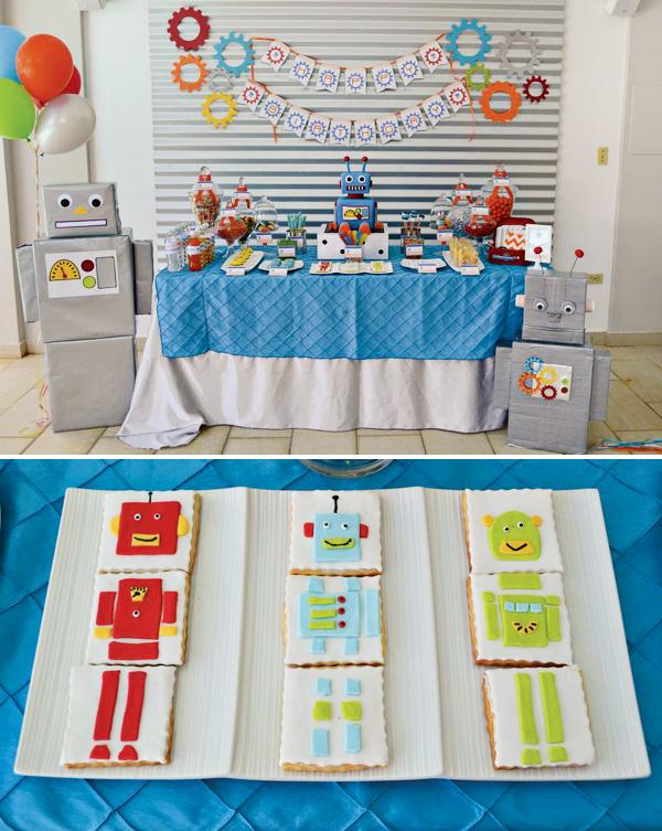 deco anniversaire robot