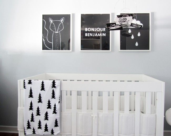 inspirations chambres d 39 enfants noir et blanc. Black Bedroom Furniture Sets. Home Design Ideas