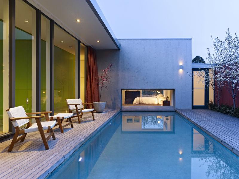 Maison contemporaine australie piscine - Maison entrepot melbourne en australie ...