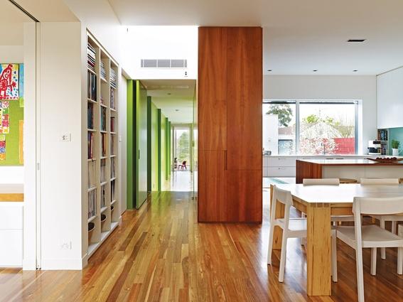 Maison contemporaine australie salle manger - Maison entrepot melbourne en australie ...