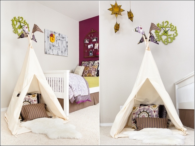 tipi pour chambre d 39 enfant. Black Bedroom Furniture Sets. Home Design Ideas