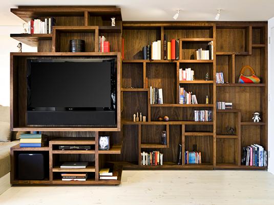 central park new york appartement salon meuble tv casiers bois 6. Black Bedroom Furniture Sets. Home Design Ideas