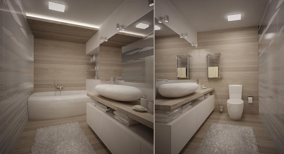 Projet appartement design svoya studio for Plafonnier design salle de bain