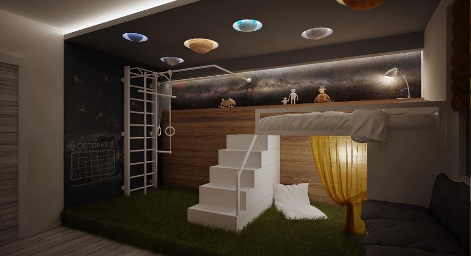 Deco planete chambre enfant for Photo deco chambre enfant
