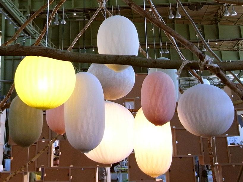 Lampe suspension cocon boule for Lampe boule suspension
