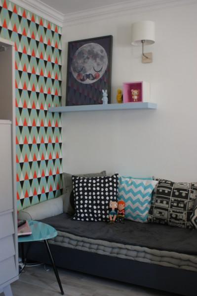 papier peint triangle isak. Black Bedroom Furniture Sets. Home Design Ideas