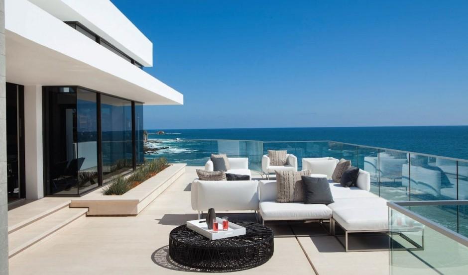 villa contemporaine californie balcon