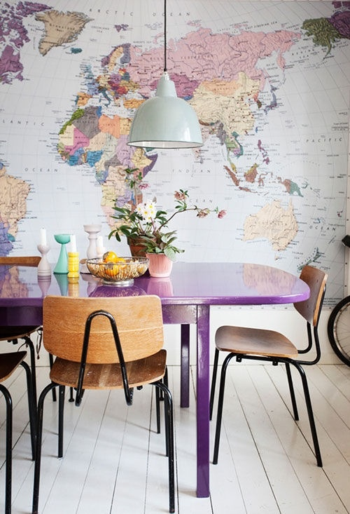 carte monde mur deco inspiration. Black Bedroom Furniture Sets. Home Design Ideas