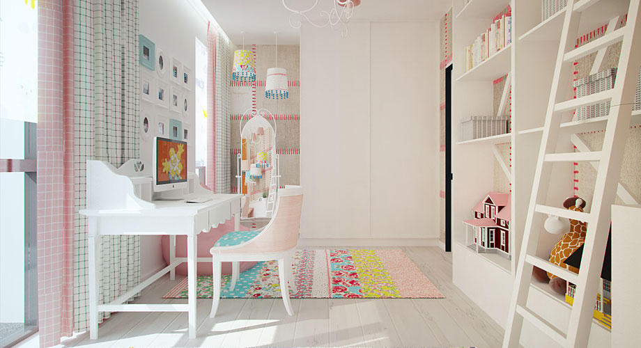 Chambre fille deco blanche - Interior design of room for girls ...