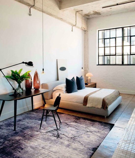 Inspiration de chambres style loft for Chambre style loft