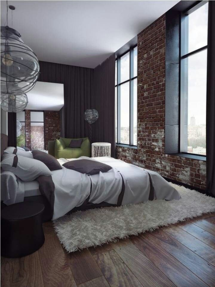 inspiration de chambres style loft. Black Bedroom Furniture Sets. Home Design Ideas