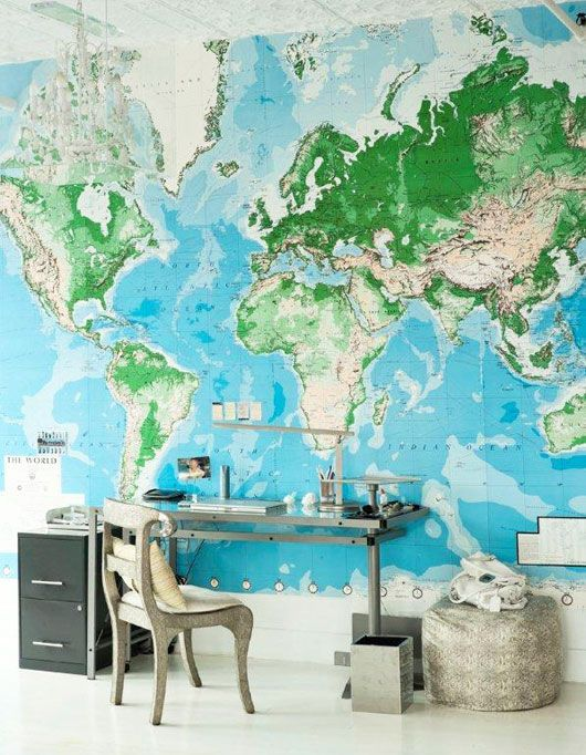 inspiration d co th me map monde. Black Bedroom Furniture Sets. Home Design Ideas
