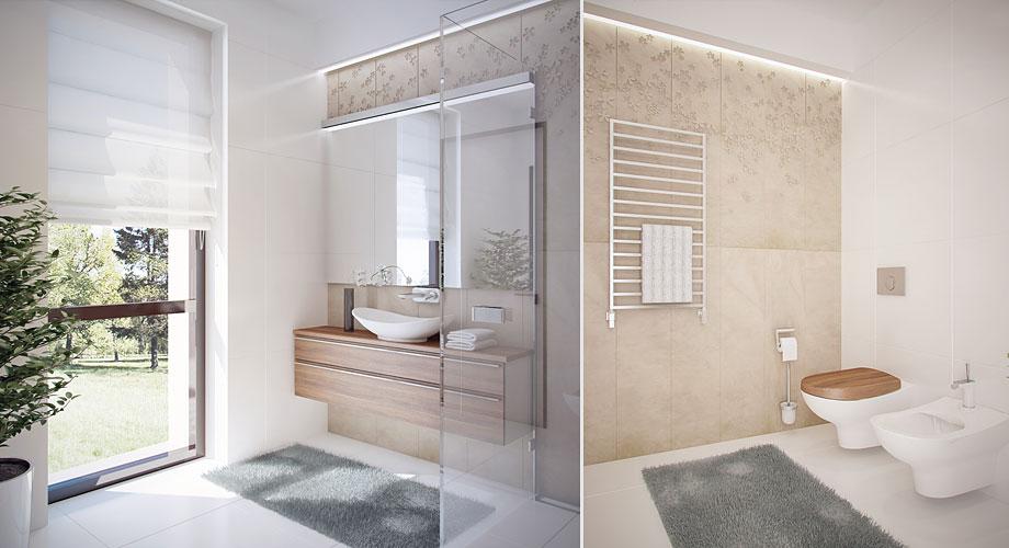 Projet d 39 am nagement d 39 une maison for Salle de bain beige et gris