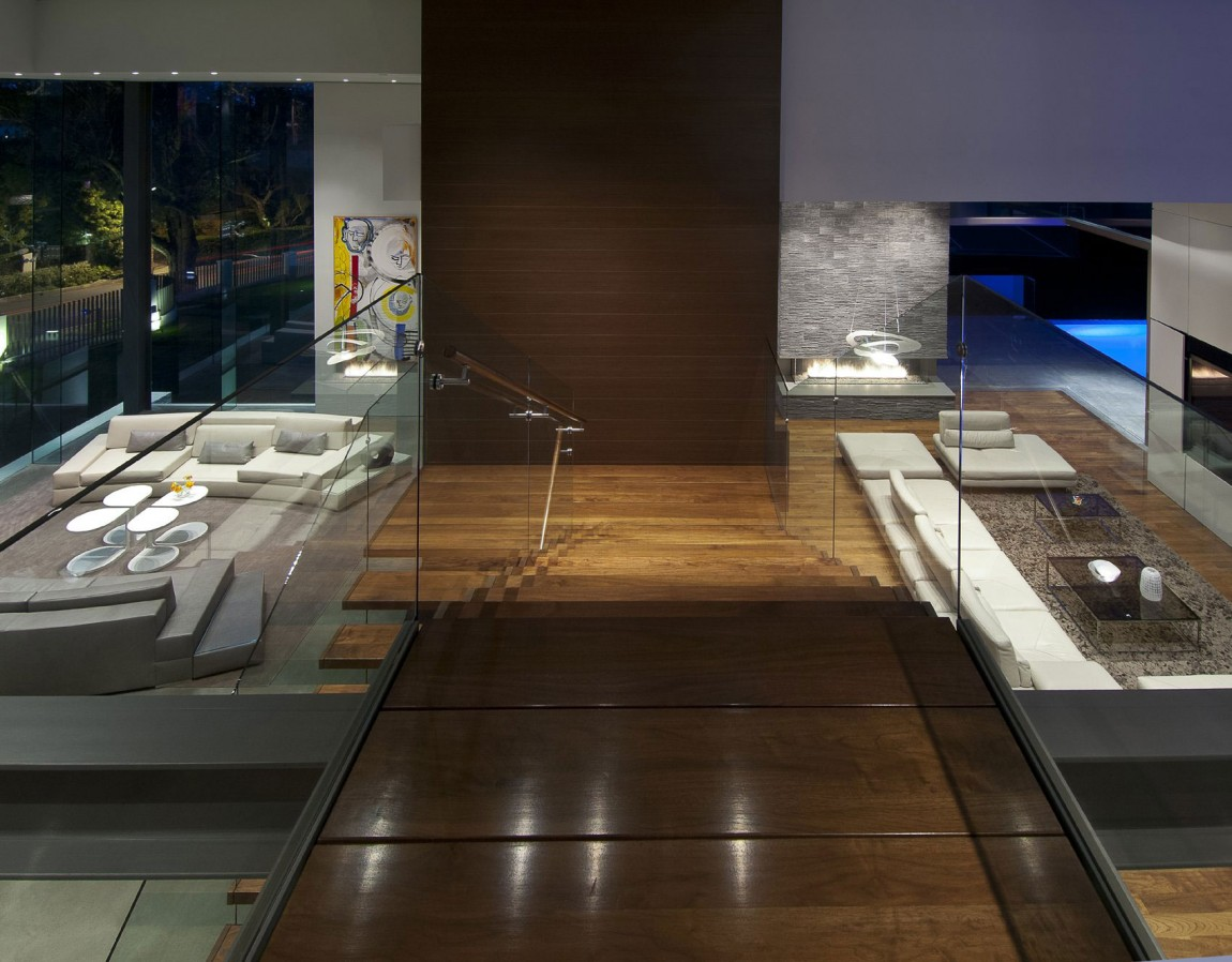 villa-design-californie-vue-escalier-bois