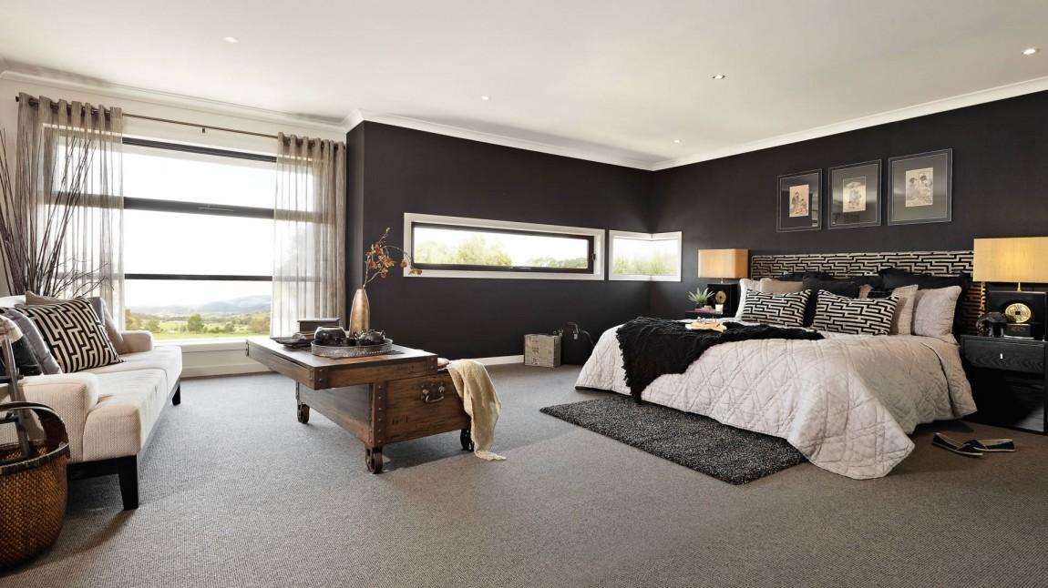Chambre Mur Noir Deco Graphique