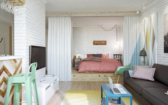 petit-appartement-colore-chambre