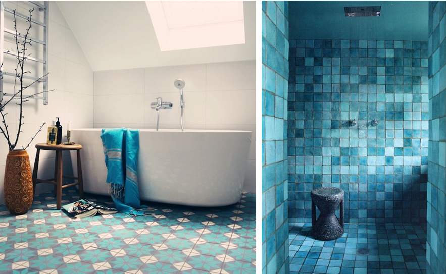 salle bains 1 inspiration deco mosaique bleu baignoire. Black Bedroom Furniture Sets. Home Design Ideas