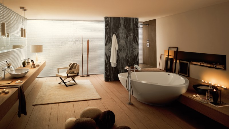 salle bains 2 inspiration naturelle parquet zen baignoire. Black Bedroom Furniture Sets. Home Design Ideas