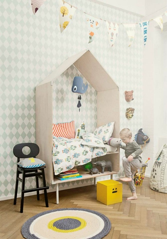 salle jeux enfants 6 ferm living cadres inspiration atypique deco. Black Bedroom Furniture Sets. Home Design Ideas