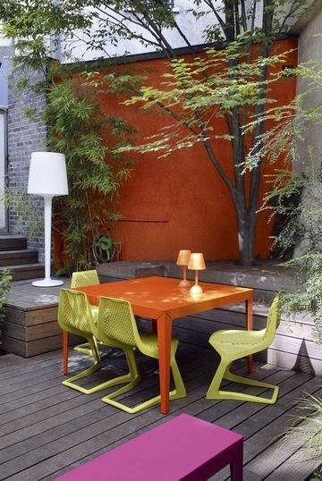 Terrasse patio 3 inspiration deco exterieur couleur retro bois for Deco exterieur terrasse