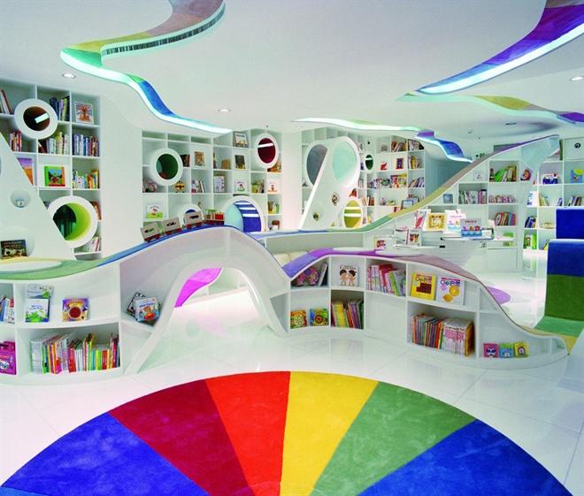 45 Design Ideas Of Amazing Home Libraries: Bibliothèque Pour Enfants Colorée
