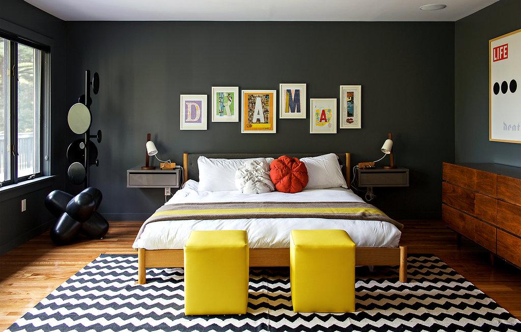 Chambre Deco Vintage Gris Jaune