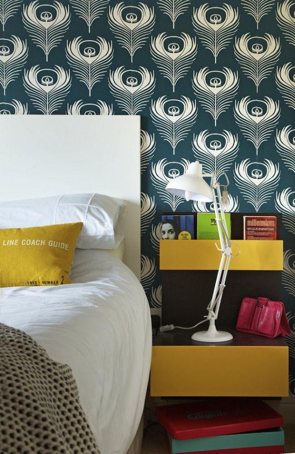 chambre-papier-peint-deco-jaune