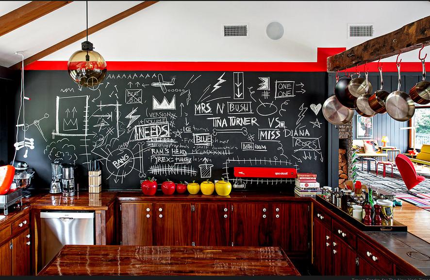 cuisine bois vintage mur tableau. Black Bedroom Furniture Sets. Home Design Ideas