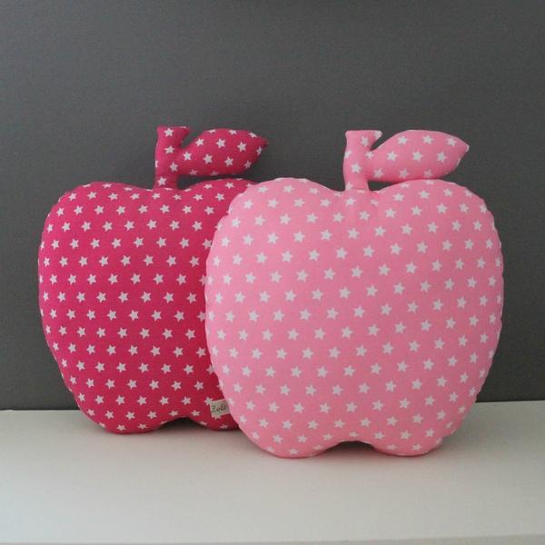 Doudou vintage 1 pomme etoiles coussins deco enfant bebe - Creer un doudou pour bebe ...