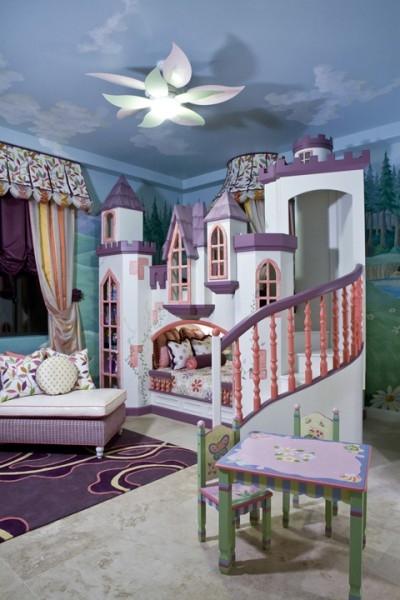 Inspirations lits atypiques pour chambres d 39 enfants - Lit chateau pour petite fille ...