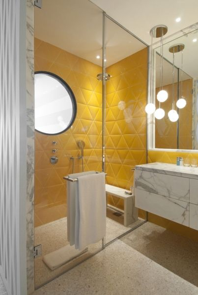 Awesome Salle De Bain Jaune Et Blanche Images - Amazing House Design ...
