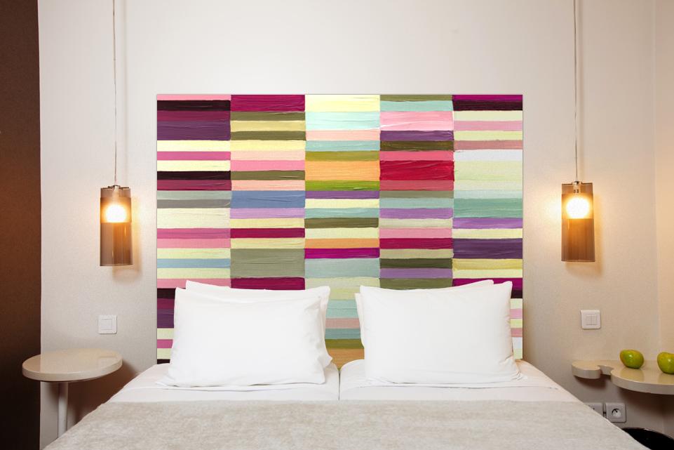 Inspirations pour t tes de lit originales - Fabriquer une tete de lit originale ...