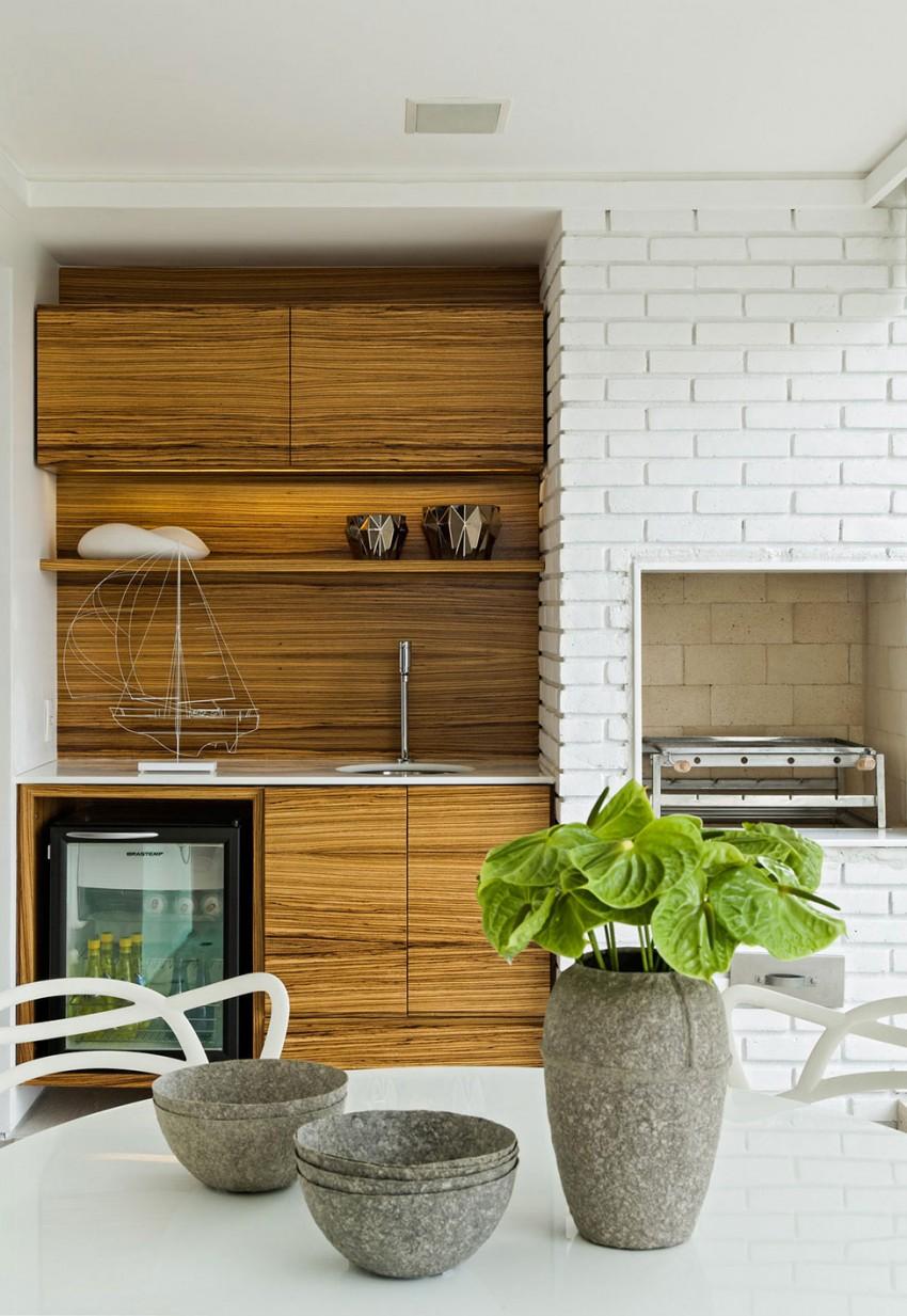 appartement d co contemporaine blanche et bois. Black Bedroom Furniture Sets. Home Design Ideas