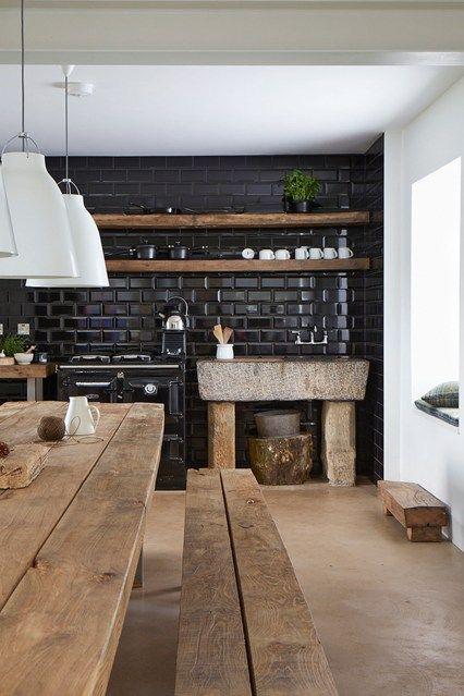 carrelage mosaique cuisine mur noir laque. Black Bedroom Furniture Sets. Home Design Ideas