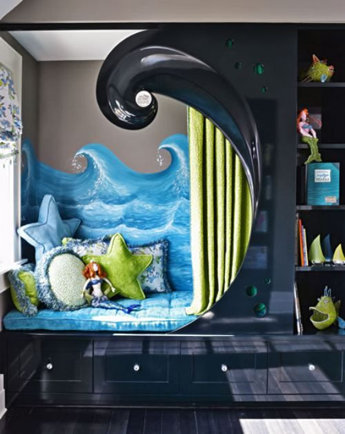 chambre enfant originale deco sirene. Black Bedroom Furniture Sets. Home Design Ideas