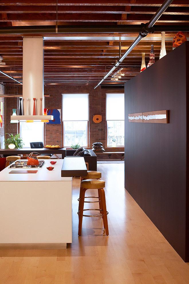 Cuisine Ilot Central Deco Loft