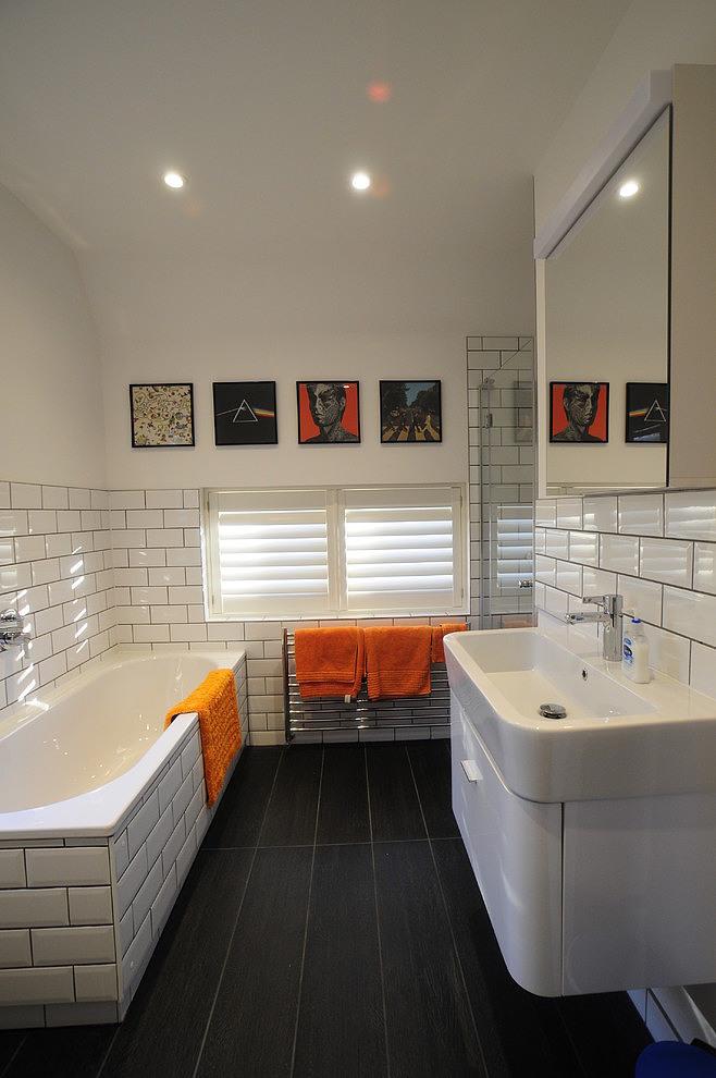 Salle bains carrelage metro for Salle de bain carreaux metro