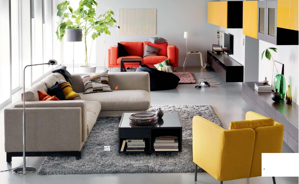 ikea 2015 salon gris jaune. Black Bedroom Furniture Sets. Home Design Ideas