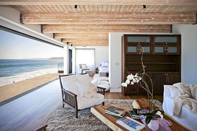 Villa design et contemporaine avec piscine malibu - Maison contemporaine malibu niles architecte ...