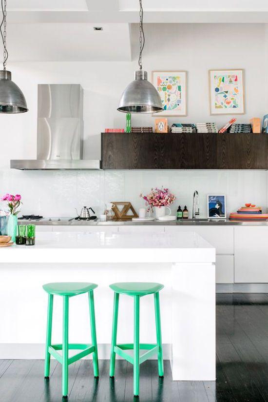 cuisine-tabouret-vert-menthe