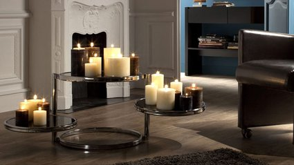 deco bougies ambiance salon 3. Black Bedroom Furniture Sets. Home Design Ideas