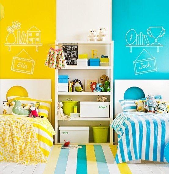 Inspirations déco de chambres mixtes pour enfants
