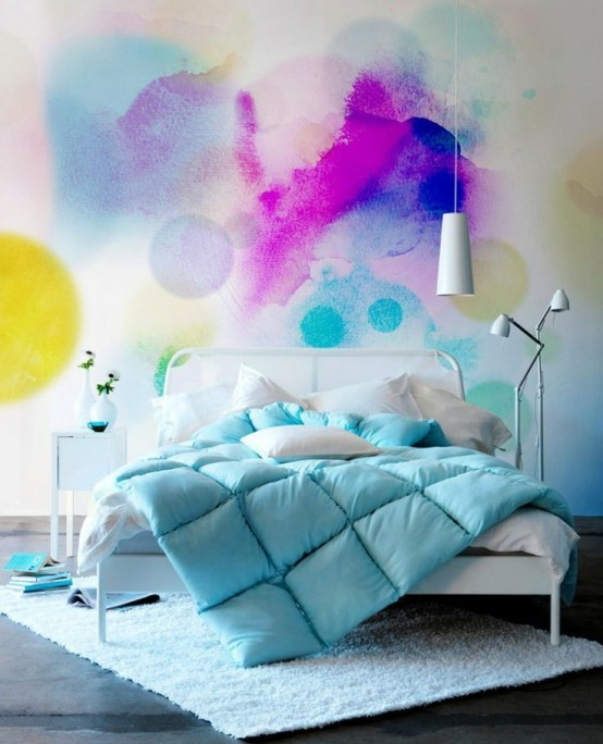 deco-chambre-mur-aquarelle