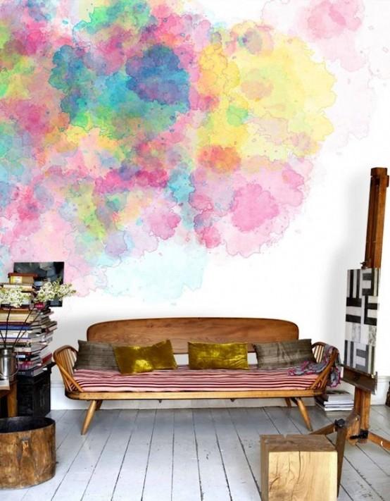 deco-murale-salon-peinture-aquarelle