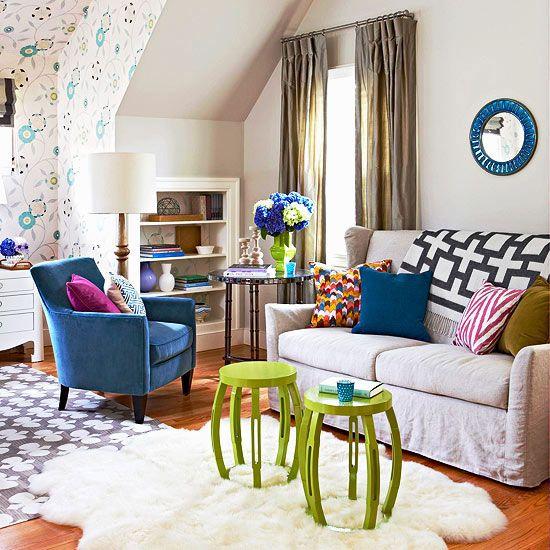 inspiration d co pour un salon color. Black Bedroom Furniture Sets. Home Design Ideas