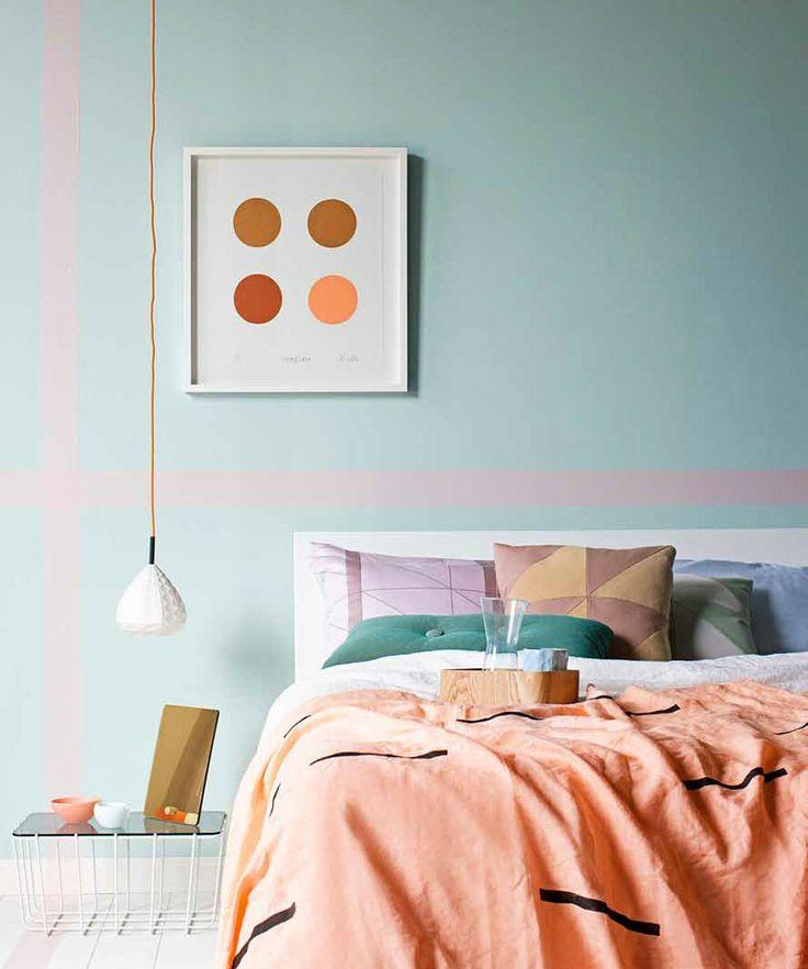 mur chambre vert menthe. Black Bedroom Furniture Sets. Home Design Ideas