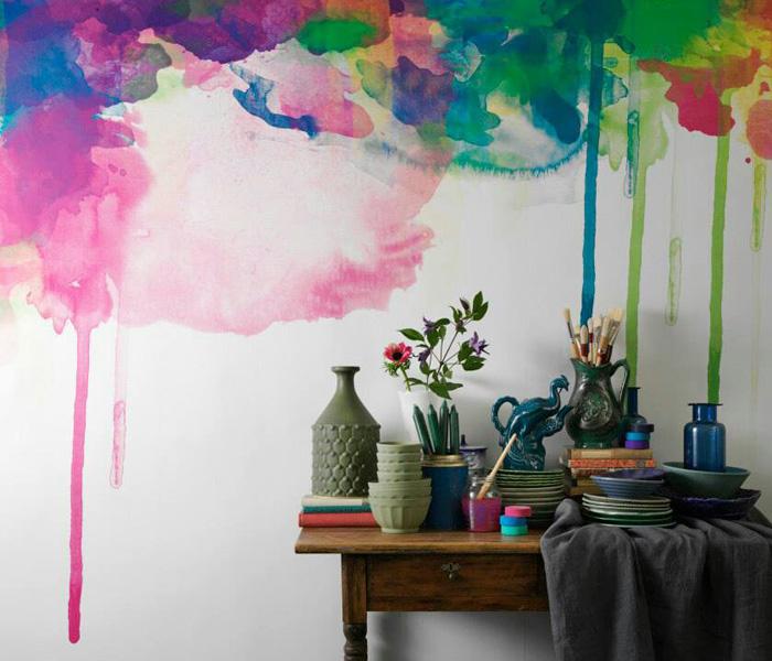 mur-peint-multicolor-aquarelle