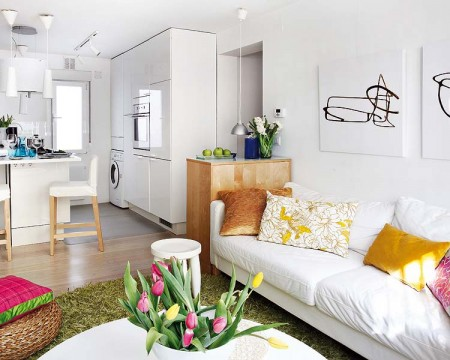 Am nagement d 39 un appartement de 40m2 for Best colors for small spaces