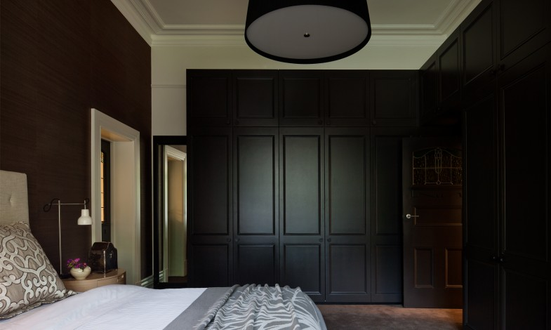 chambre avec dressing noir. Black Bedroom Furniture Sets. Home Design Ideas