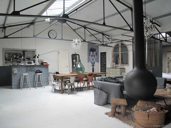 hangar rehabilite loft salon. Black Bedroom Furniture Sets. Home Design Ideas